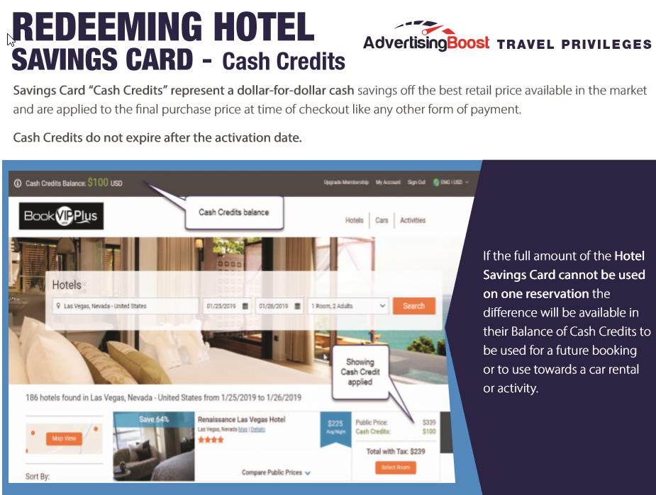 Hotel Savings CARD FAQs